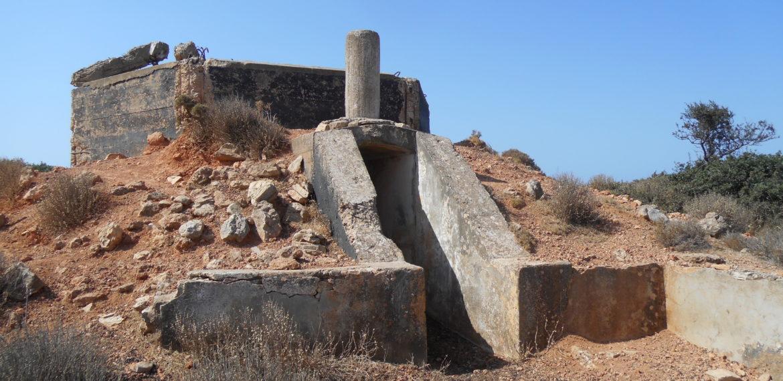 Il Comando DICAT a Monte Patella, Isola di Leros